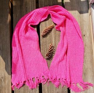 AMERICAN EAGLE Pink Fringed Wrap Scarf NWOT